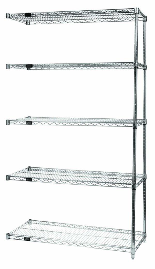 QuantWire Wire Shelving Add On Kit 5 Shelf