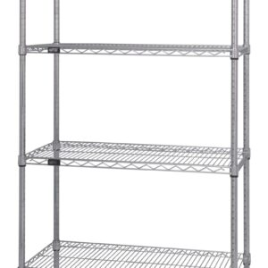 QuantWire Wire Shelving Starter Kit 4 Shelf scaled